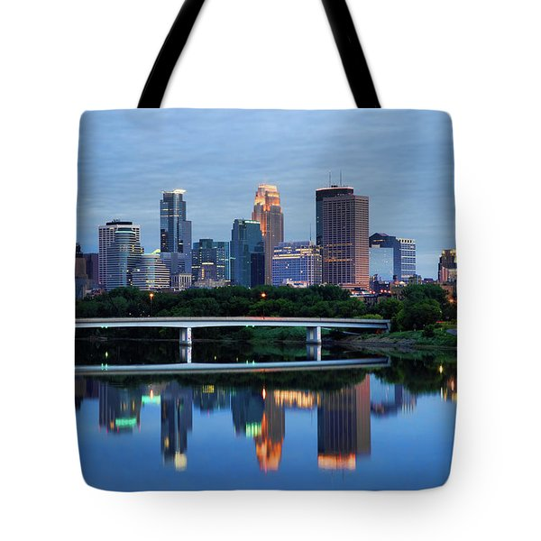 Minneapolis Reflections Tote Bag by Rick Berk