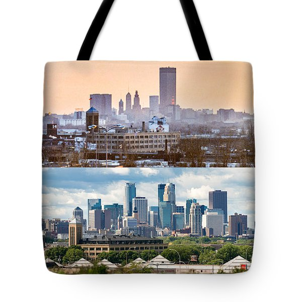 Minneapolis Skylines - Old And New Tote Bag