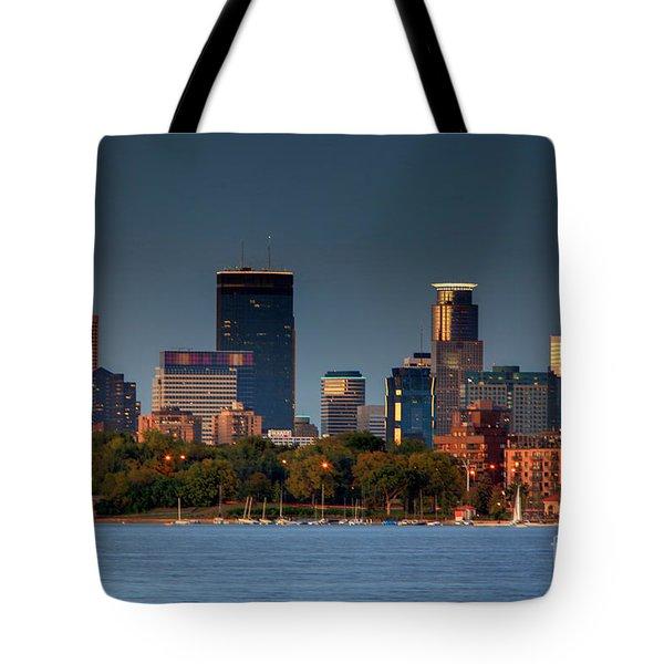 Minneapolis Skyline Photography Lake Calhoun Summer Evening Tote Bag