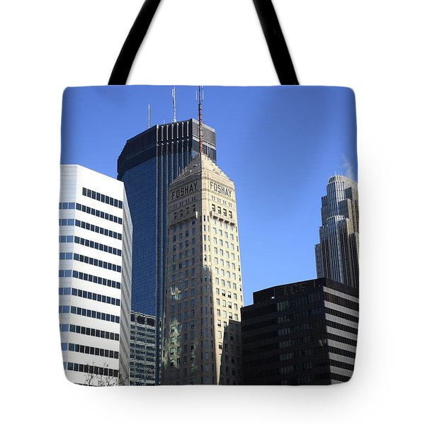 Tote Bag featuring the photograph Minneapolis Skyscrapers 12 by Frank Romeo