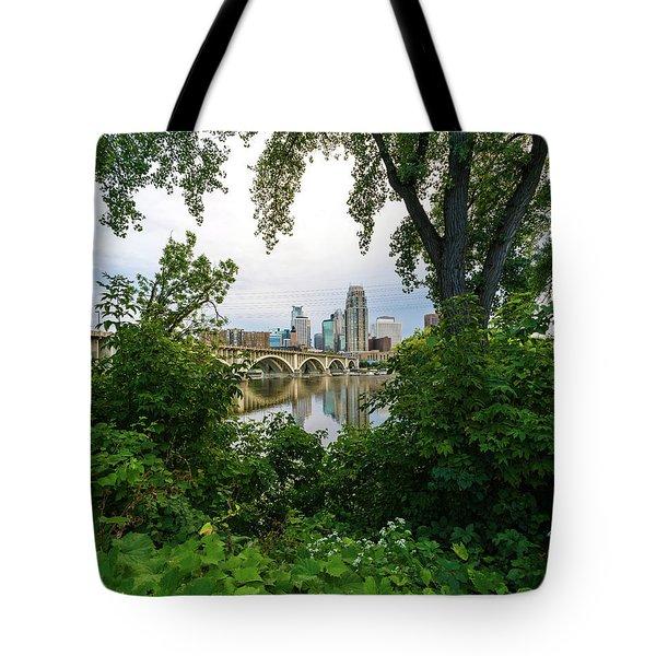 Minneapolis Through The Trees Tote Bag
