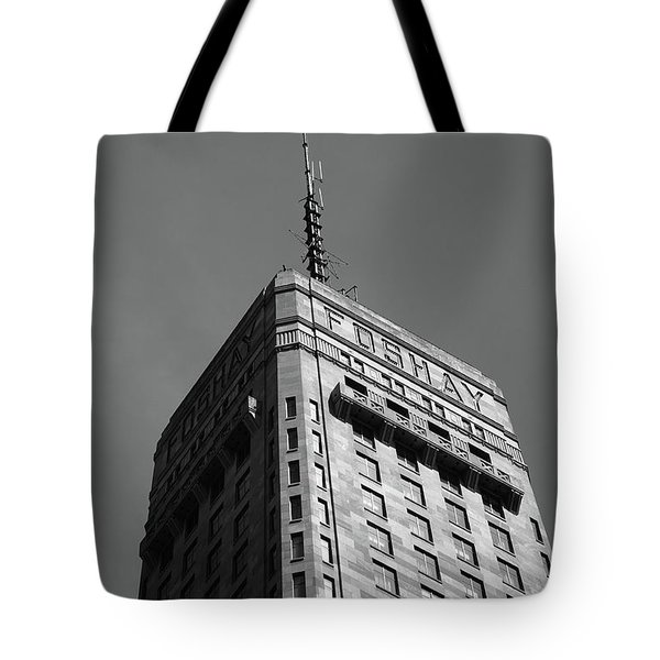 Tote Bag featuring the photograph Minneapolis Tower 6 Bw by Frank Romeo