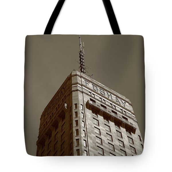 Tote Bag featuring the photograph Minneapolis Tower 6 Sepia by Frank Romeo