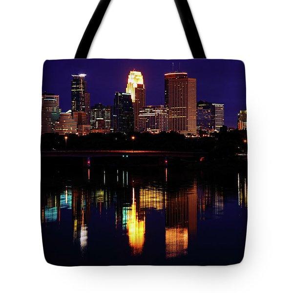 Minneapolis Twilight Tote Bag by Rick Berk