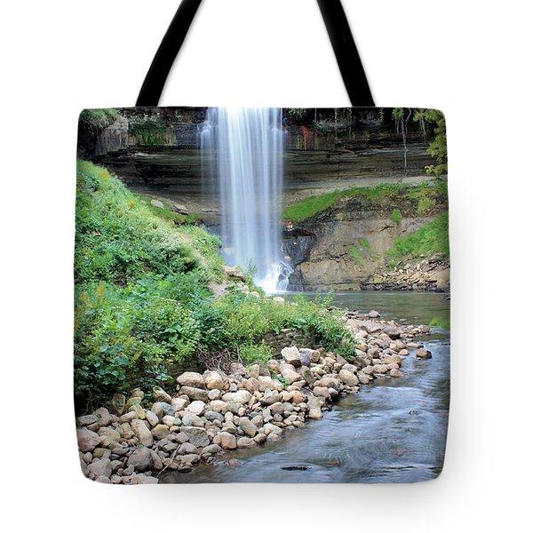 Minnehaha Falls Downstream Tote Bag
