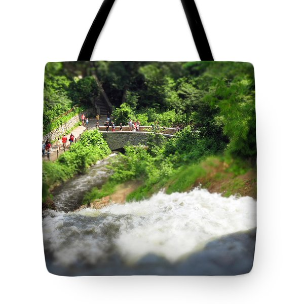 Minnehaha Falls From Above Tote Bag