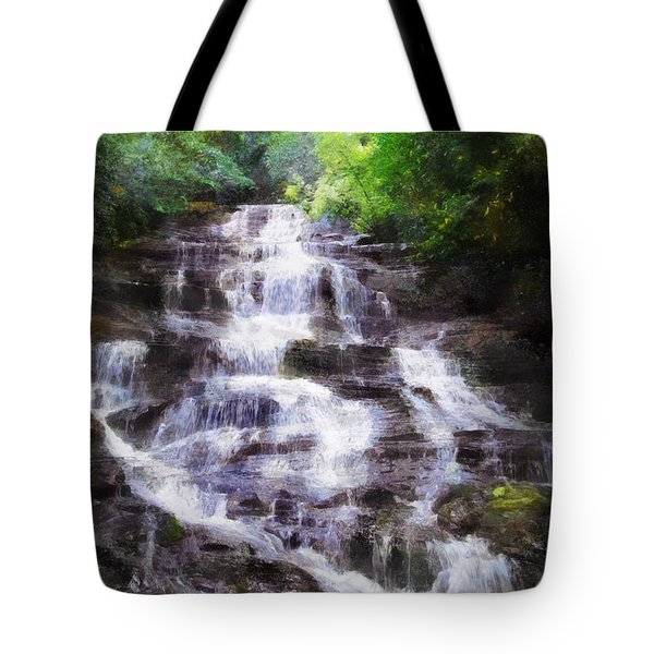 Tote Bag featuring the digital art Minnehaha Falls Summer by Francesa Miller