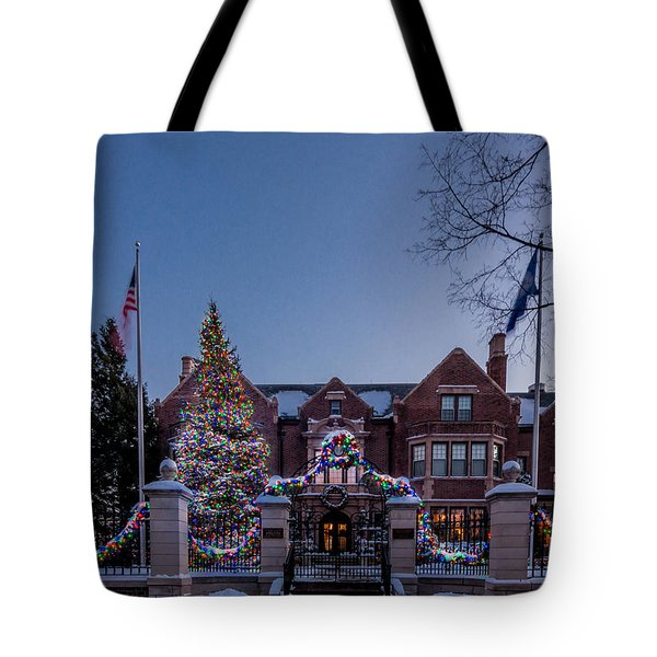 Tote Bag featuring the photograph Christmas Lights Series #6 - Minnesota Governor's Mansion by Patti Deters