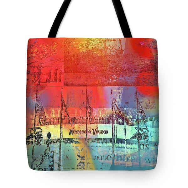 Tote Bag featuring the photograph Minnesota Vikings Art by Susan Stone