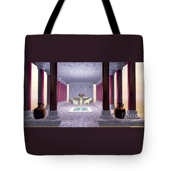 Minoan Temple Tote Bag by Corey Ford