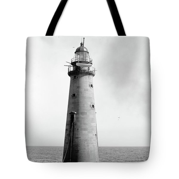 Tote Bag featuring the photograph Minot's Ledge Lighthouse, Boston, Mass Vintage by Vintage