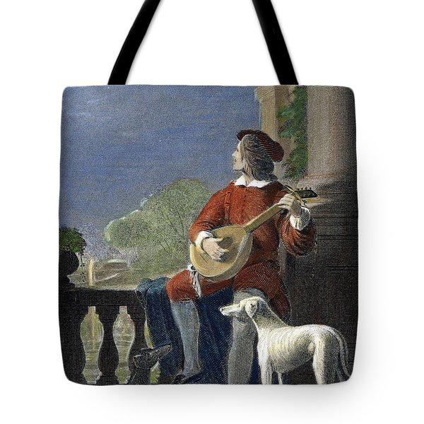 Minstrel, 19th Century Tote Bag by Granger