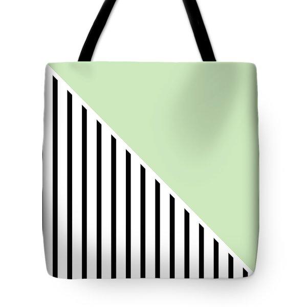 Mint And Black Geometric Tote Bag