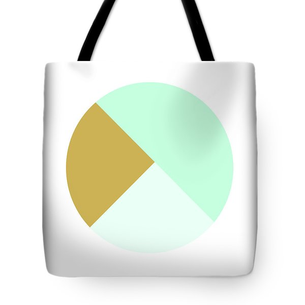 Mint And Gold Ball- By Linda Woods Tote Bag