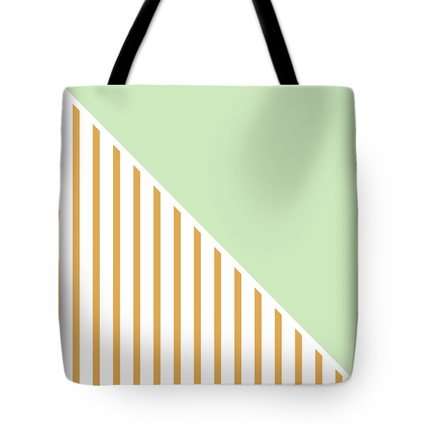 Mint And Gold Geometric Tote Bag by Linda Woods