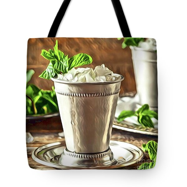 Mint Julep Double Tote Bag