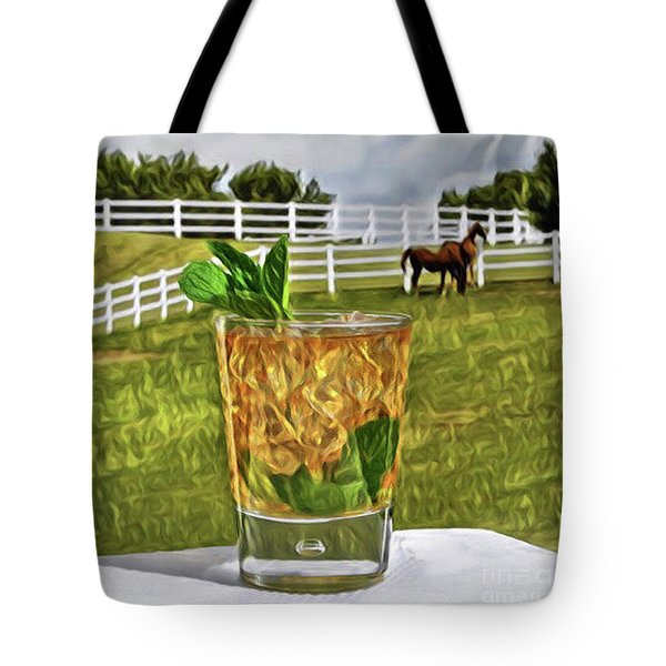 Mint Julep Kentucky Derby Tote Bag
