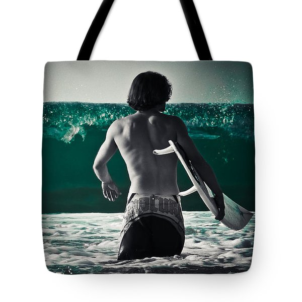 Mint Surf Tote Bag by Loriental Photography