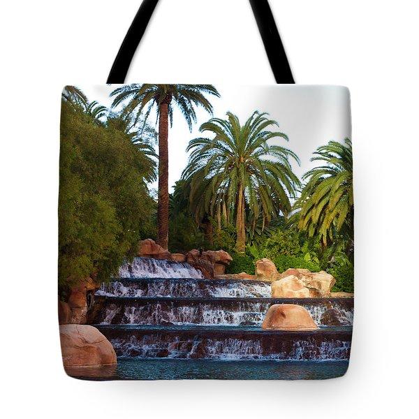 Mirage Waterfall Tote Bag by Rae Tucker