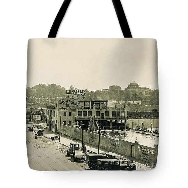 Tote Bag featuring the photograph Miramar Pool, 1927 by Cole Thompson