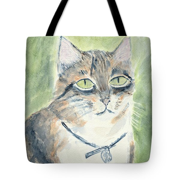 Tote Bag featuring the painting Miranda by Kathryn Riley Parker