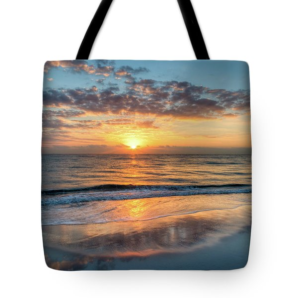 Tote Bag featuring the photograph Mirror At Sunrise by Debra and Dave Vanderlaan