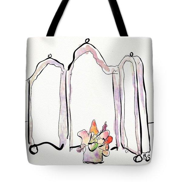 Sketch Mirror Tote Bag