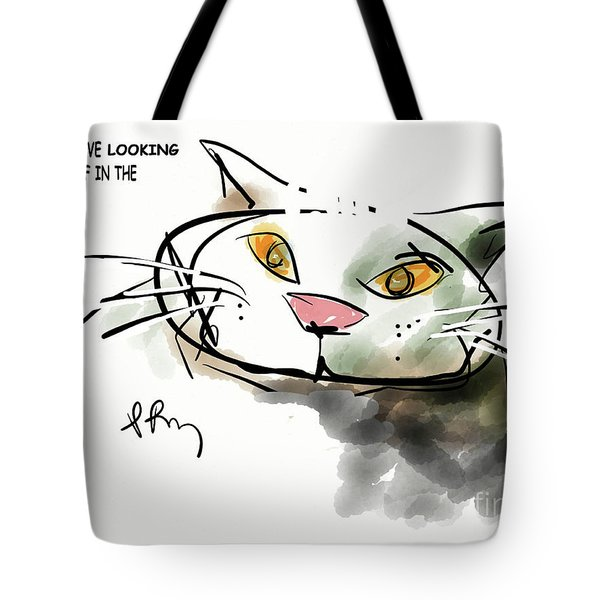 Mirror Cat Tote Bag
