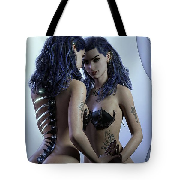 Mirror Cropped Tote Bag