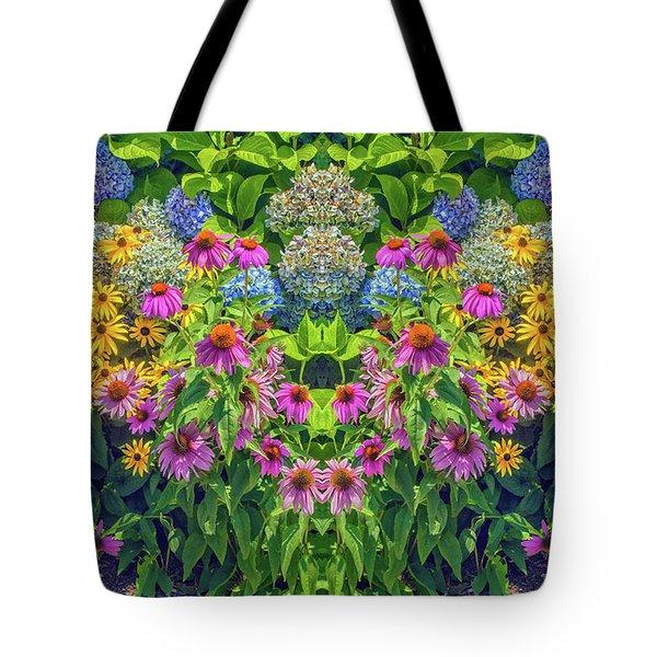 Flowers Pareidolia Tote Bag