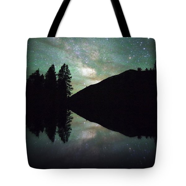 Mirror In The Mountains Tote Bag by Matt Helm