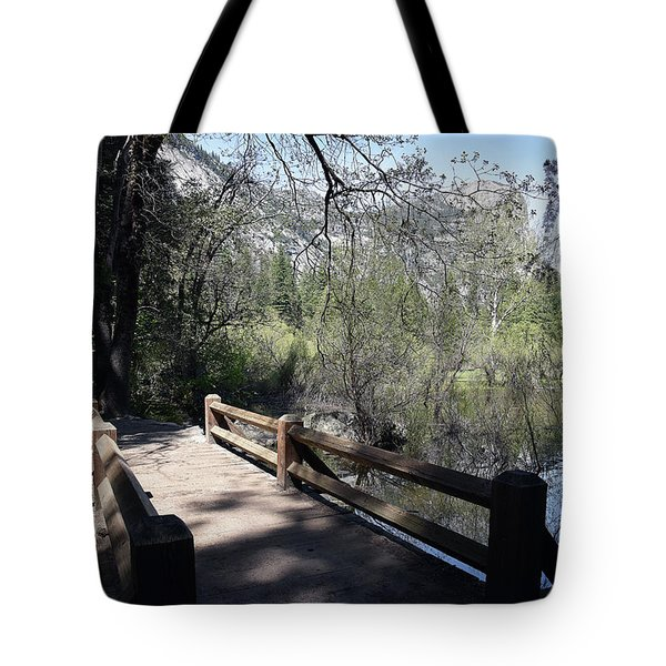 Mirror Lake At Yosemite National Park Tote Bag