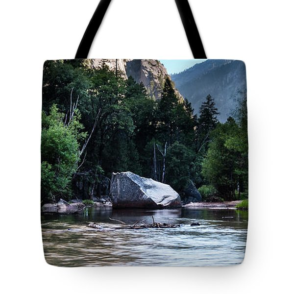Tote Bag featuring the photograph Mirror Lake- by JD Mims