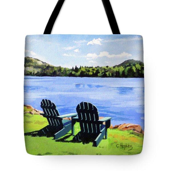 Mirror Lake Lake Placid New York Tote Bag