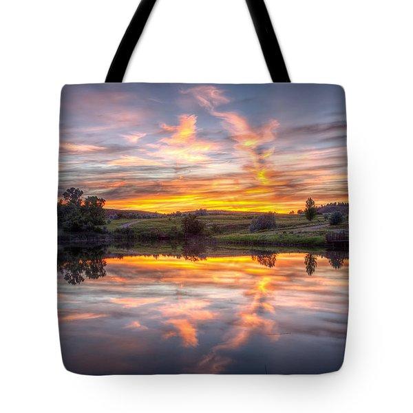 Mirror Lake Sunset Tote Bag