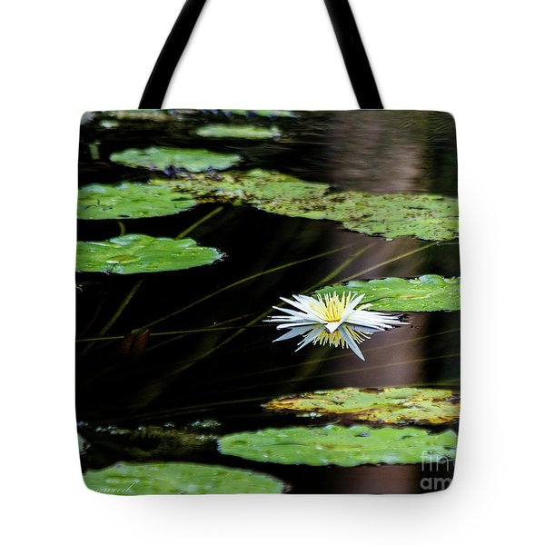 Mirror Lily Tote Bag