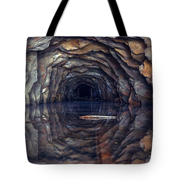 Tote Bag featuring the photograph Mirror Mirror On The Ground Who Is... by Peter Thoeny