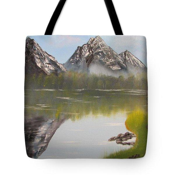 Mirror Mountain Tote Bag