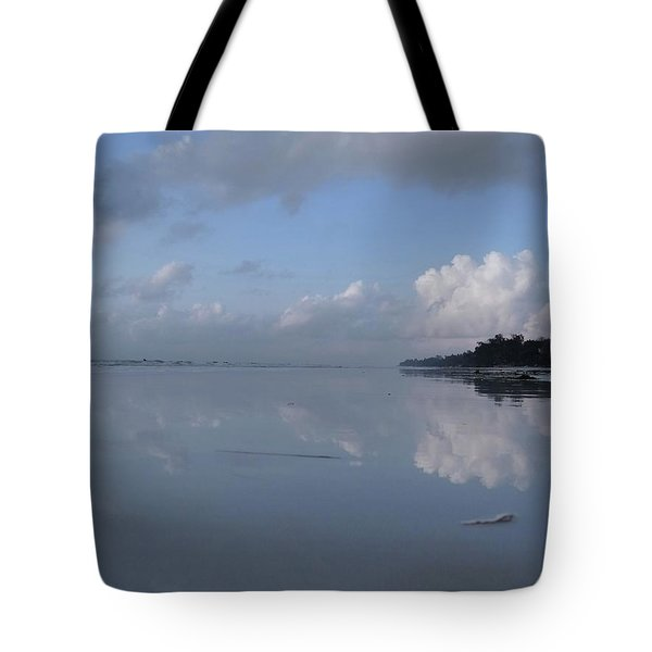 Mirror Ocean Water Tote Bag
