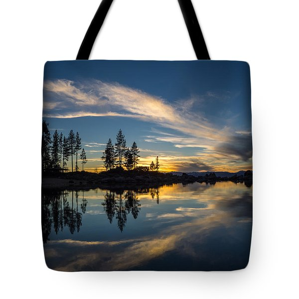 Mirror Sunset Tote Bag