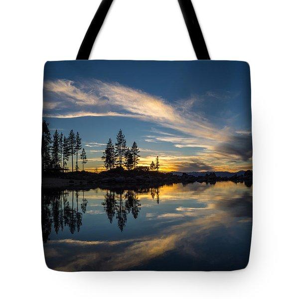 Mirror Sunset Tote Bag