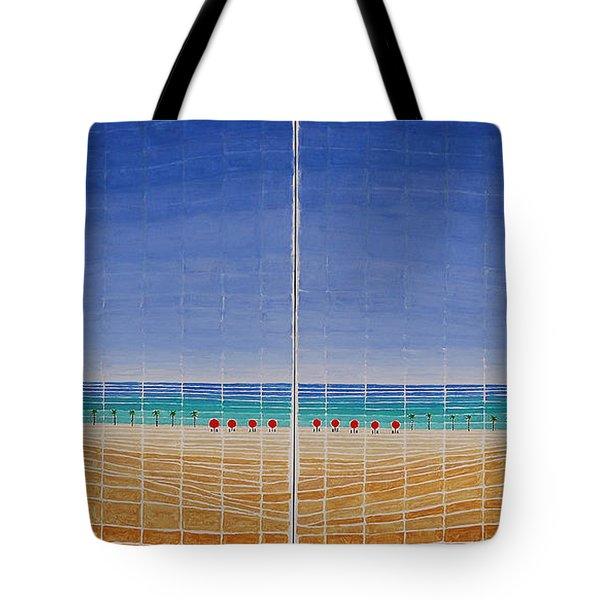 Mirror Twin Beaches Tote Bag
