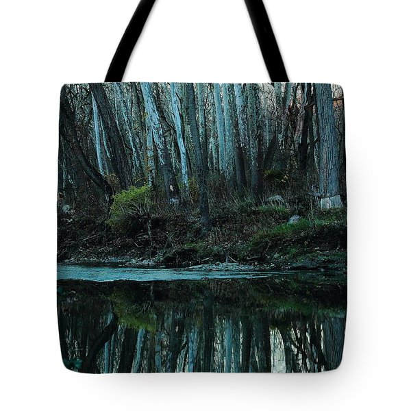 Mirrored Tote Bag by Bruce Patrick Smith
