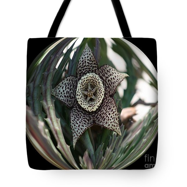 Captured Five-point Star Succulent Tote Bag