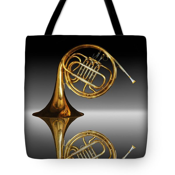 Tote Bag featuring the photograph Mirrored Horn by Joe Bonita