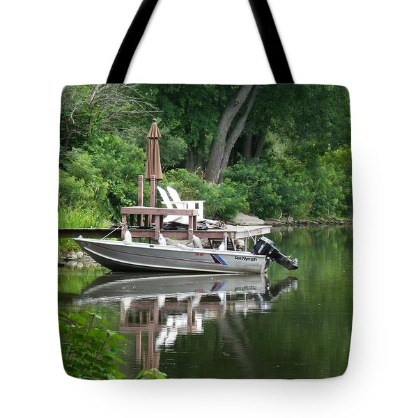 Mirrored Journey Tote Bag