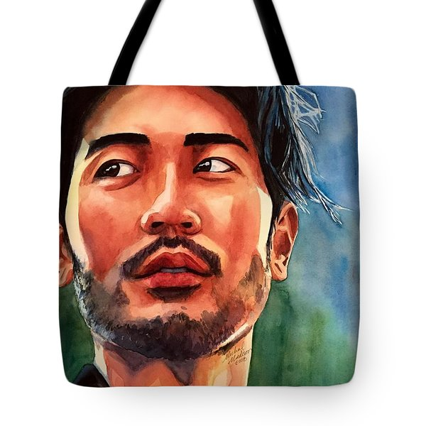 Tote Bag featuring the painting Mirrors Of Perception by Michal Madison