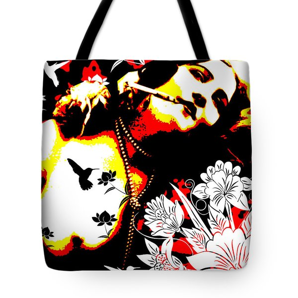 Mischievious Hummingbird Tote Bag by Chris Andruskiewicz