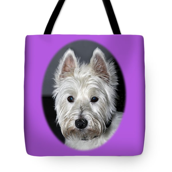 Mischievous Westie Dog Tote Bag by Bob Slitzan