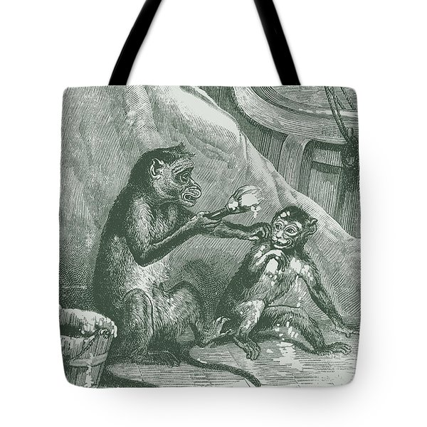 Mischievous Monkey Tote Bag